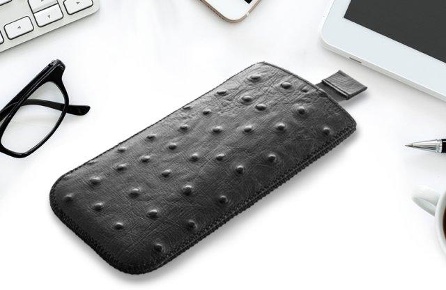 Surazo Suazi Samsung Galaxy S3, S4 bőr védőtok, fekete