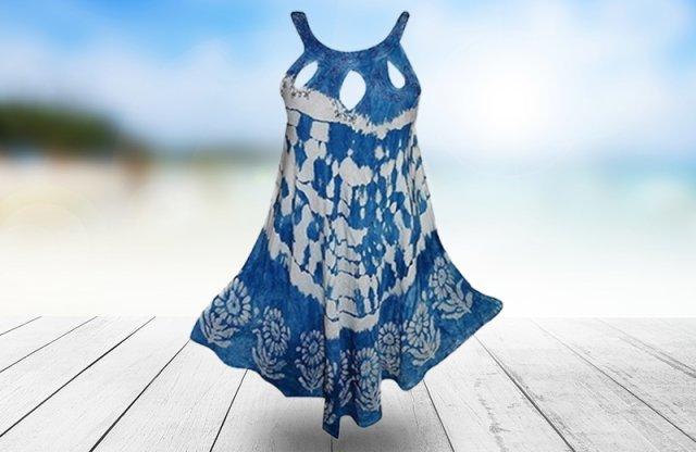 Indiai rövid ruha, kék + más színekben