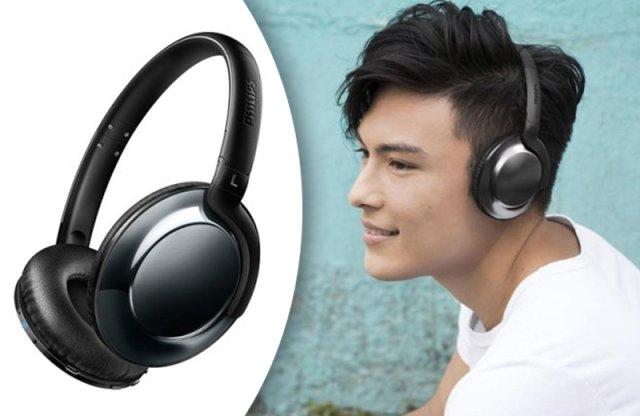Philips Wireless fejhallgató, fekete - SHB4805DC/00
