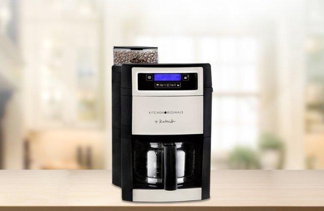Kalorik kávéfőző és daráló 1100w, fekete-szürke