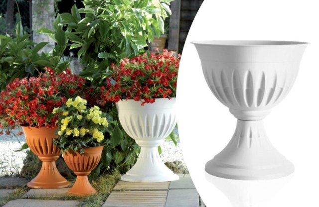 Alba virágláda/ kaspó, 33x35 cm, 4 l, fehér