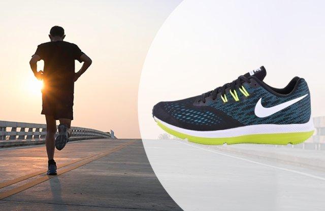 Nike Air Zoom Winflo 4 férfi cipő, fekete, 41-es méretben
