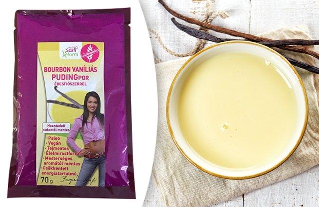Szafi Reform bourbon vaníliás pudingpor édesítőszerrel, 70 g