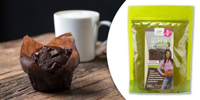 Szafi Reform étcsokoládé ízű muffin lisztkeverék édesítőszerrel, 280 g