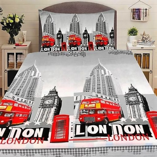 Pamut ágyneműhuzat nyomtatott LONDON | London