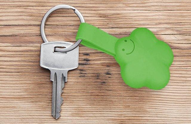 Univerzális töltő kulcstartó, lightning és micro USB csatlakozóval, zöld