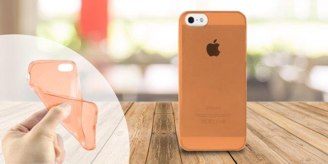 iPhone 5/5S szilikon védőtok, 0,33 mm, narancs + több színben