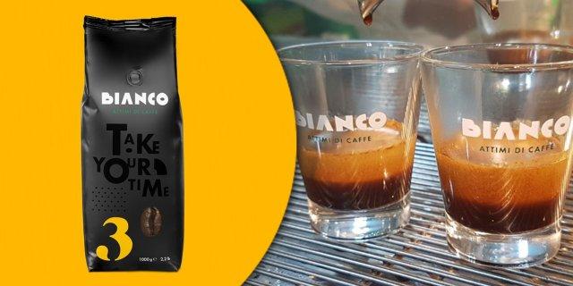 Bianco Nr. 3, Espresso szemes kávé, 50% Arabica / 50% Robusta, 1 kg