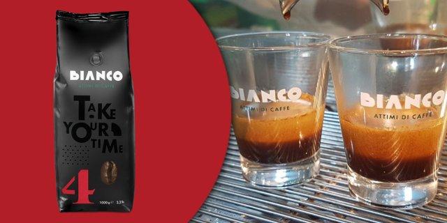 Bianco Nr. 4, Espresso szemes kávé, 30% Arabica / 70% Robusta, 1 kg