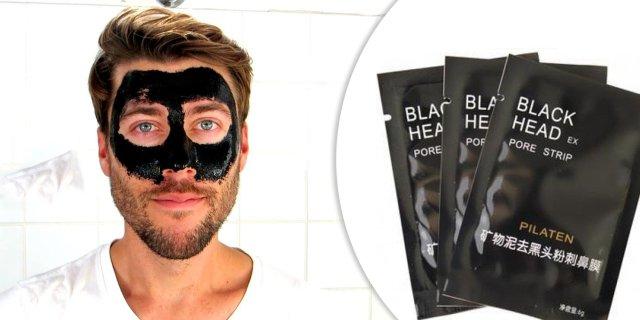 Fekete arcmaszk férfiaknak, 10 db x 6 g