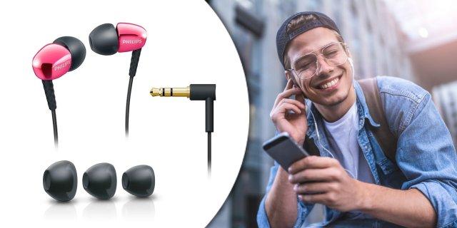 Philips SHE3900PK fülhallgató, pink + több színben
