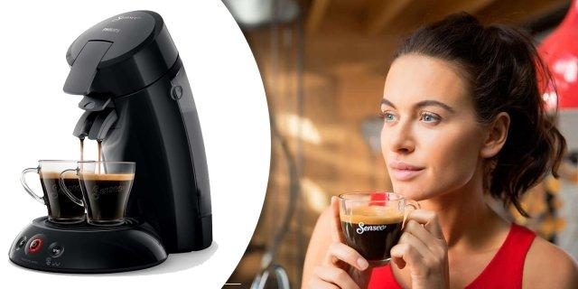 Philips Senseo HD6554/62 kávégép, fekete színben