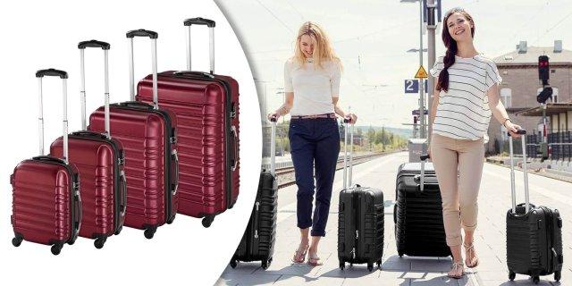 fd507de71e4d 4 db-os merev falú bőrönd szett, piros + több színben - Brigád Termék