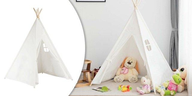 Indián sátor gyerekeknek, fehér + több színben