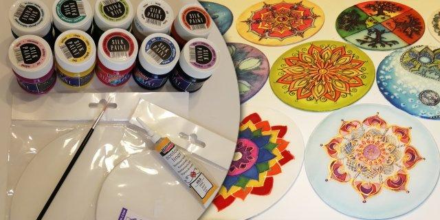 Selyem mandala festő csomag