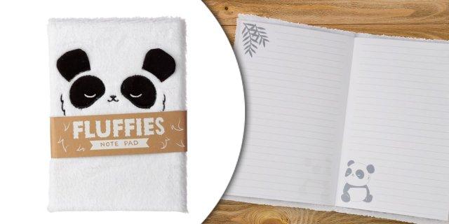Panda jegyzetfüzet plüssborítóval