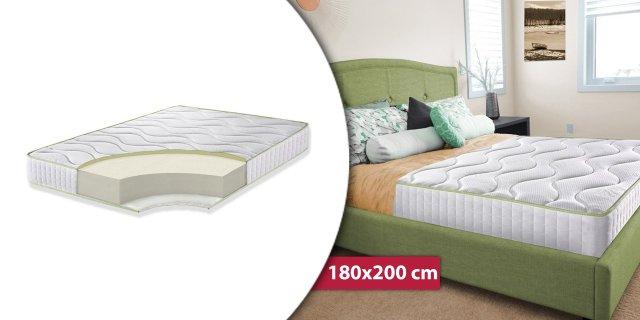 Bedora Ortopéd Super Aloe-Vera 14+2 memory matrac, Green Form HD® elasztikus hab, 180x200 cm + több méretben