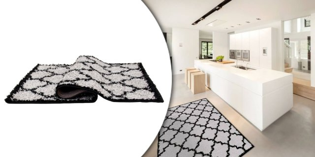 Tatum szőnyeg, 133x190 cm, szürke-fekete