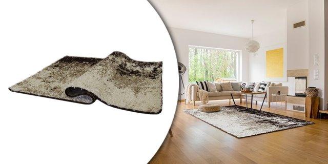 LYNTON szőnyeg, 133x190 cm, krém-barna