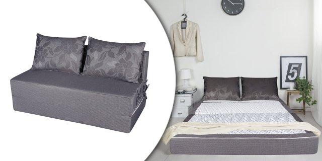 Bedora Smart szürke kinyitható kanapé, matraccá alakítható kétszemélyes