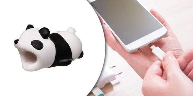 Kábelvédő szilikon figura, panda + más típusban