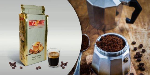 Biancaffe Intenso darált pörkölt kávé, vákuumcsomagolt, 250 g