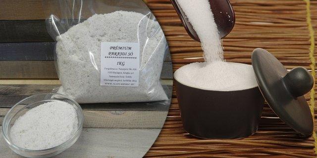 Prémium étkezési parajdi só, 1 kg