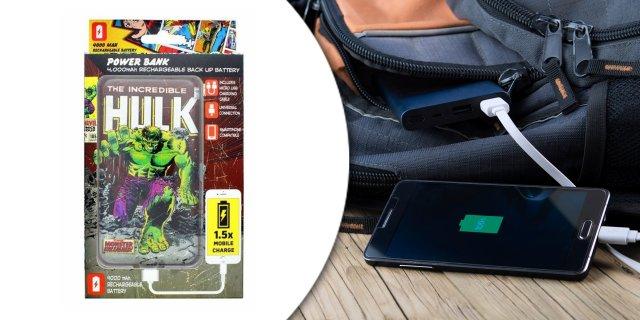 Lazerbuilt 4000mAh powerbank, Marvel Hulk