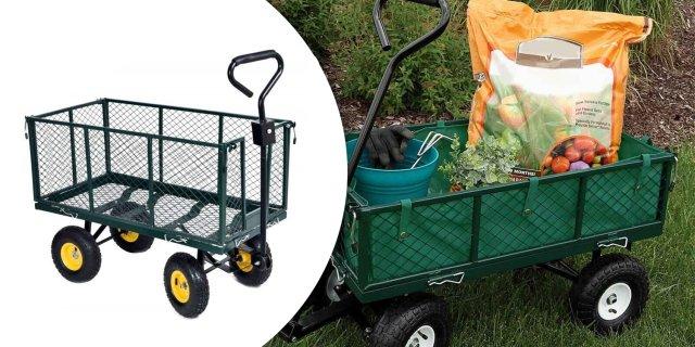 Fém, kerti kézikocsi, 350 kg teherbírású + más típusban