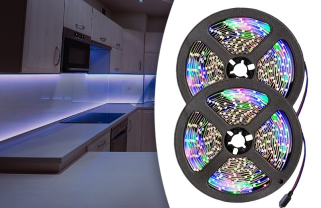 Programozható LED szalag szett távirányítóval, 5 méteres