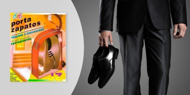 Hordozható cipőtartó táska, cipzárral