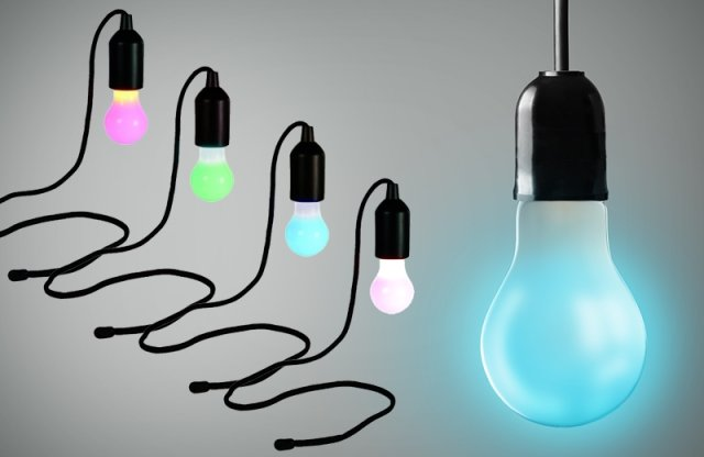 Vintage LED égő, 100cm-es textil vezetékkel