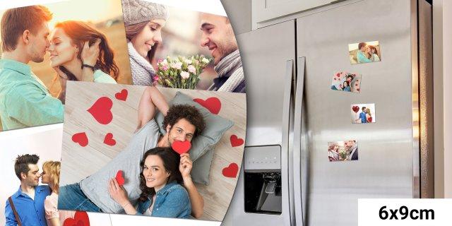 Saját fotódból készült egyedi hűtőmágnes, 4 db, 6x9 cm