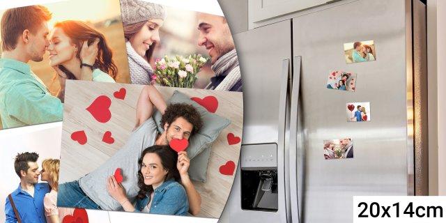 Saját fotódból készült egyedi hűtőmágnes, 4 db, 20x14 cm