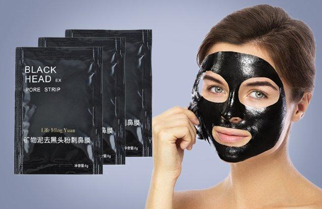Mitesszer eltávolító arcmaszk, 3 db