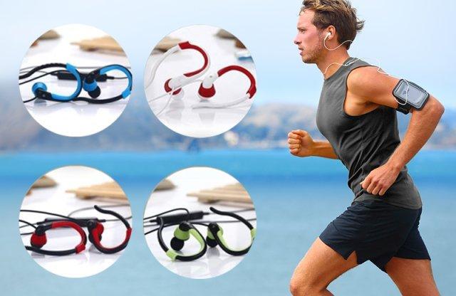 Vezeték nélküli bluetooth-os sport fülhallgató, fehér-piros + több színben