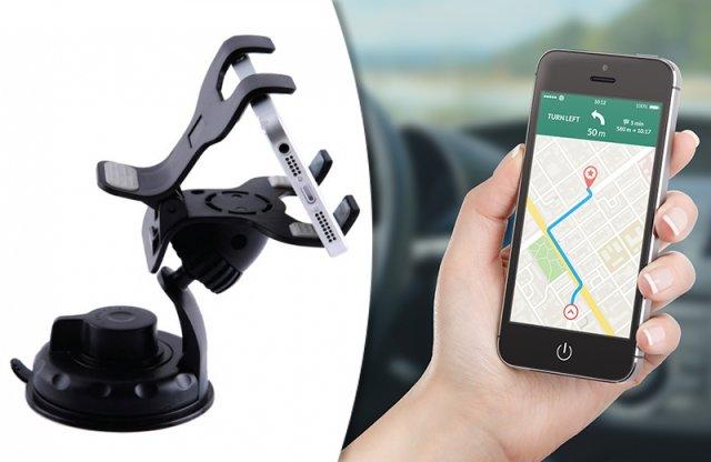 Autós mobil és GPS tartó csipesz, univerzális