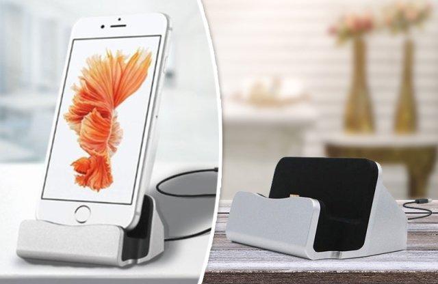 iPhone asztali töltő, ezüst + több színben