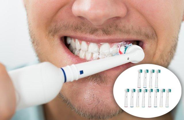 Utángyártott fogkefefej Oral B elektromos fogkeféhez, 12 db