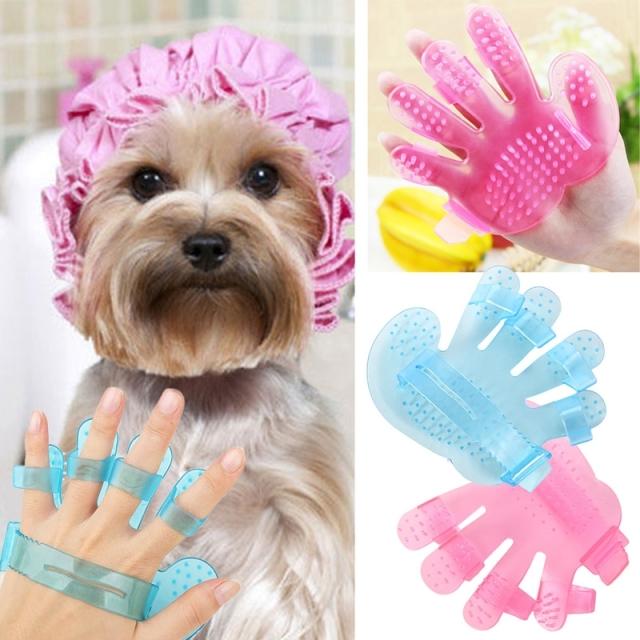 Szőrtelenítő kutyakesztyű, pink + más színben